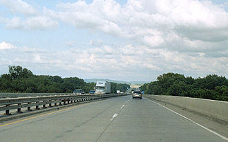 Interstate 90 in Minnesota - The I-90 Bridge between La Crosse, Wisconsin and Dresbach, Minnesota