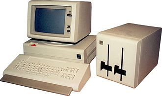 "IBM Displaywriter System - IBM Displaywriter with keyboard, CPU, monitor, and dual-drive 8in floppy disk ""toaster"""