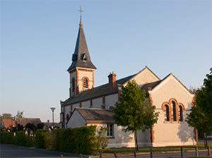 Le Bardon - The church in Le Bardon