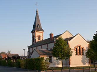 Le Bardon - The church in Le Bardon
