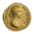 INC-2034-a Ауреус. Фаустина Младшая. Ок. 161—176 гг. (аверс).png