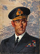 Painting of Mountbatten in uniform