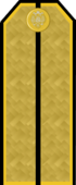 Rank insignia of the Imperial Russian Navy (IRB) until 1917, here Senior lieutenant Navy/ Sub-lieutenant (OF1).