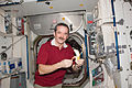 ISS-34 Chris Hadfield eats a fresh banana.jpg