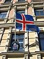 Icelandic state flag Embassy Helsinki.jpg