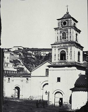 San Francisco Church (Valparaíso) - San Francisco Church, Valparaíso in 1864