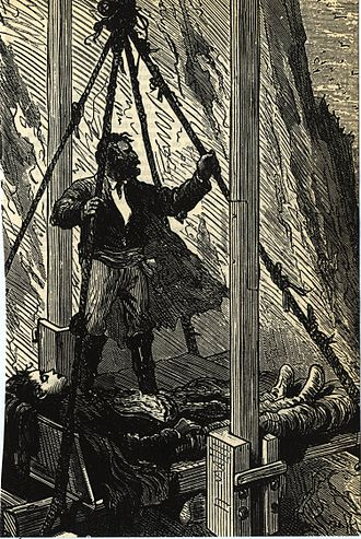Jules Férat - An illustration from The Mysterious Island.