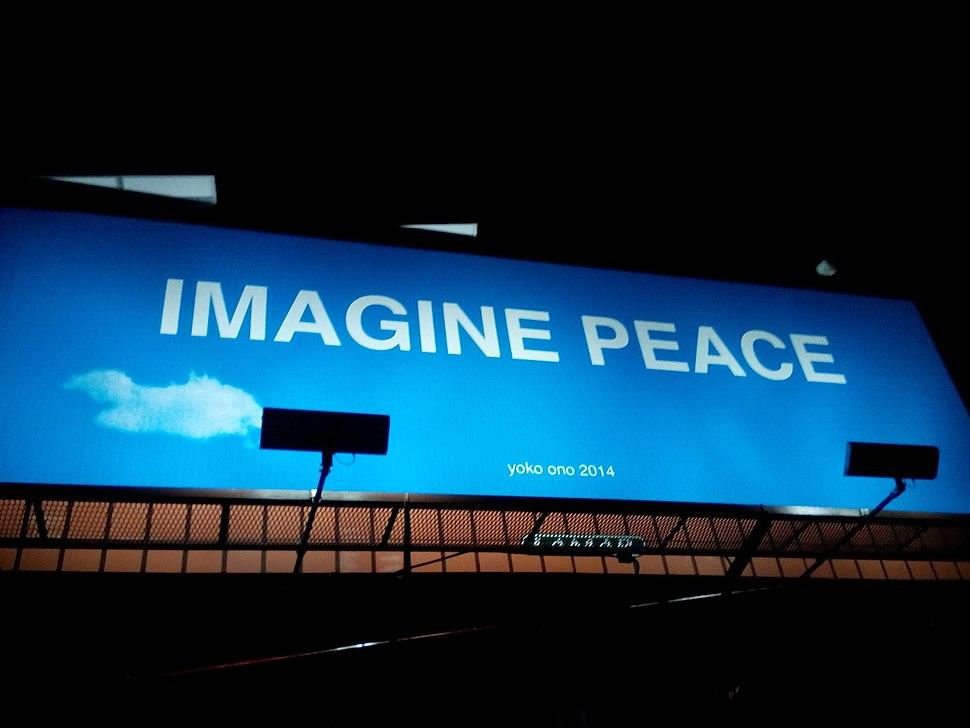 Imagine Peace Billboard Fort Myers FL Photo by Dawn Iraci
