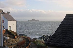 Inchkeith Viewed from Pettycur Road Kinghorn.