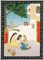 India, Pahari Hills, Kangra school, 19th century - Toilette of Radha - 1953.245 - Cleveland Museum of Art.tif