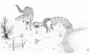 Indohyus - Two Indohyus