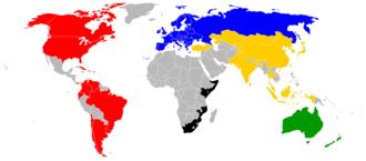 International Orienteering Federation - Image: International Orienteering Federation members