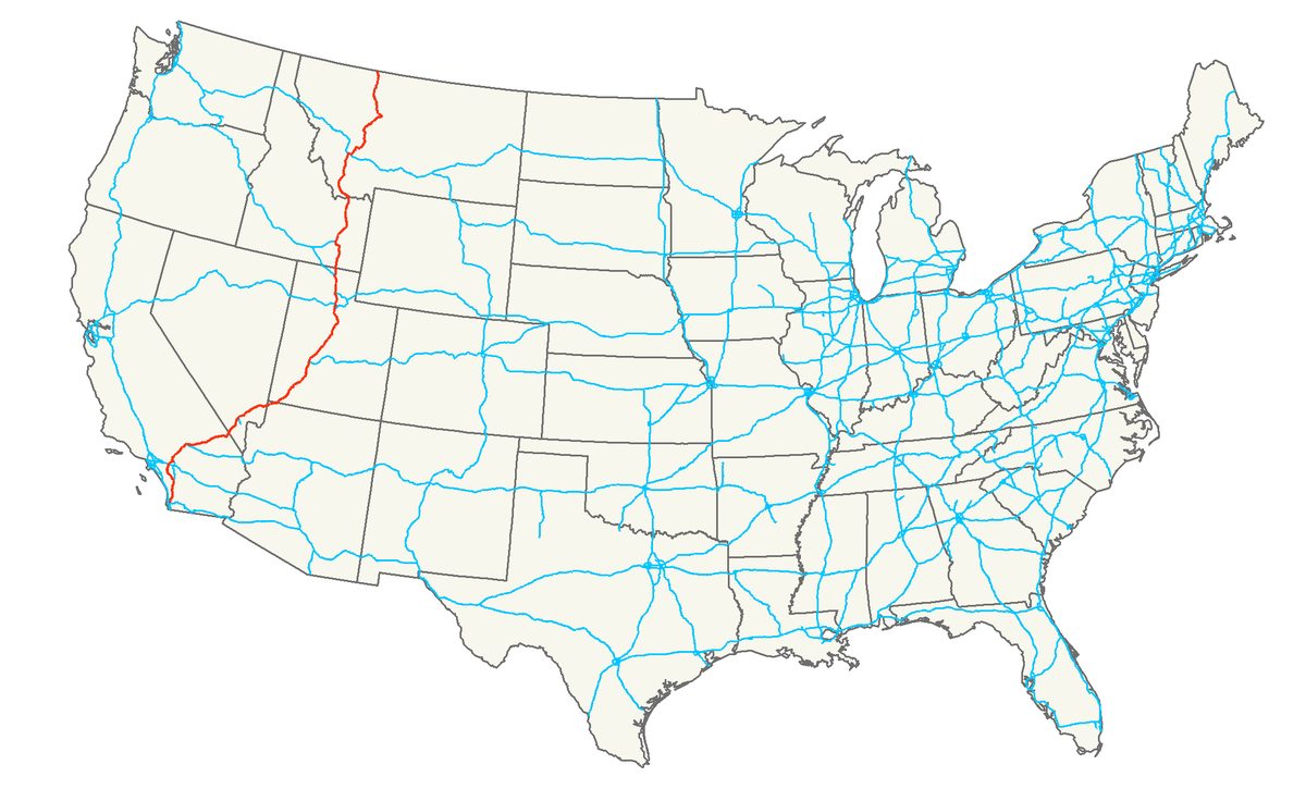 Interstate Wikipedia - Us map with state lines