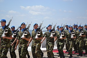 Irish Army - Irish troops serving with UNIFIL in 2013.