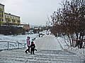 Irkutsk. February 2013. Cinema Barguzin, regional court, bus stop Volga, Diagnostic Center. - panoramio (1).jpg