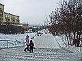 Irkutsk. February 2013. Cinema Barguzin, regional court, bus stop Volga, Diagnostic Center. - panoramio (1).jpg