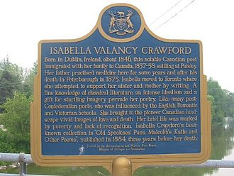 Isabella Valancy Crawford - Image: Isabellaplaque 1