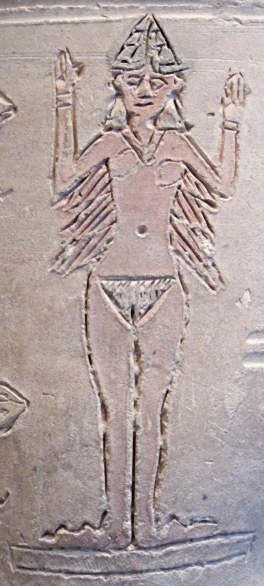 Ishtar vase Louvre AO17000-detail