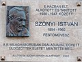 István Szőnyi plaque Budapest08.jpg