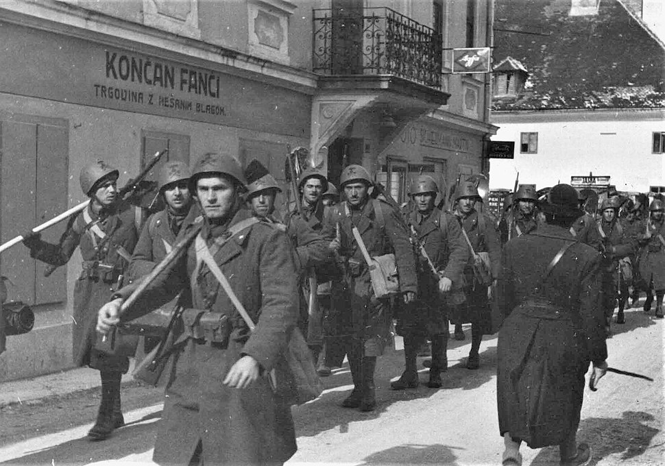 Italian Black Shirt battalion entering Yugoslavia