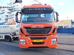 Iveco Natural Power E6 Truck in Port of Tallinn 16 October 2013.JPG