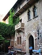 Júlia balkonja, Verona