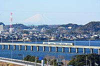 JR Kashima line and Mt.Fuji,Kashima-city,Japan.jpg