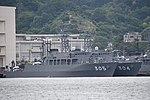 JS Awaji(MSO-304) & Hirado(MSO-305) right front view at JMSDF Yokosuka Naval Base April 30, 2018 02.jpg