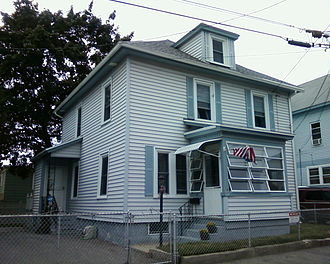 Jack Kerouac - His third of several homes growing up in the West Centralville section of Lowell