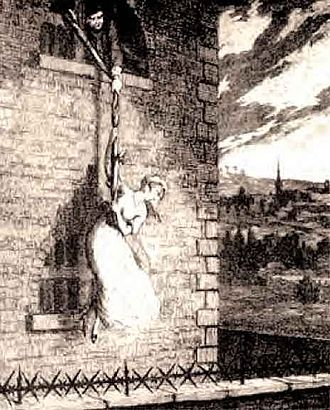 Jack Sheppard - Jack used a rope of knotted bedclothes to lower Bess during their escape from the New Prison in Clerkenwell.