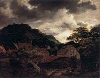 Jacob Isaacksz. van Ruisdael - Village at the Wood's Edge - WGA20478.jpg