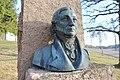 Jacob Sverdrup Monument (bust by Gustav Lærum) at Melsom Videregående skole, Melsomvik, Tønsberg, Norway. 2019-03-25 D.jpg