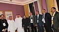 Jaipal Reddy with the Minister of Energy of United Arab Emirates, Mr. Mohammed bin Dha'en Al Hamili, on the sidelines of 20th World Petroleum Congress, at Doha, Qatar on December 04, 2011.jpg