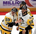 Jake Guentzel and Kris Letang 2017-06-11 1.jpg