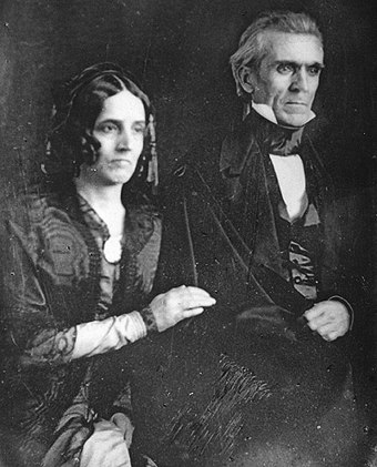 1849 daguerreotype of James K. Polk and Sarah Childress Polk James K Polk and Sarah C Polk.jpg