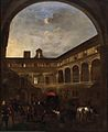 Jan Miel - The Courtyard of Palazzo Nardini in Rome.jpg