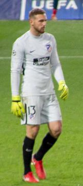 Jan Oblak - Oblak playing for Atlético Madrid in 2017