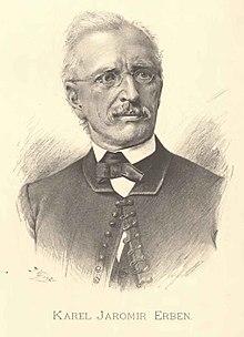 Retrato de Karel Jaromír Erben por Jan Vilímek