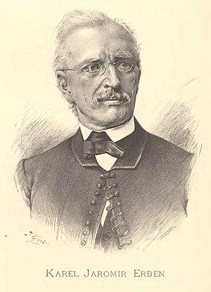 Karel Jaromír Erben - Portrait of Karel Jaromír Erben by Jan Vilímek