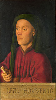Small 1432 portrait of a man by Jan van Eyck in London