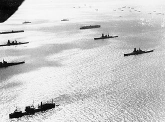 Kantai Kessen - Japanese fleet assembled for review