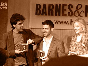 Jason Robert Brown - Brown at a 2013 CD signing with Adam Kantor and Betsy Wolfe, the cast of the 2013 off-Broadway revival of The Last Five Years.
