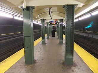 BMT Fourth Avenue Line - The Lawrence Street station (now Jay Street–Metrotech) was built after that section of the line had already been completed.