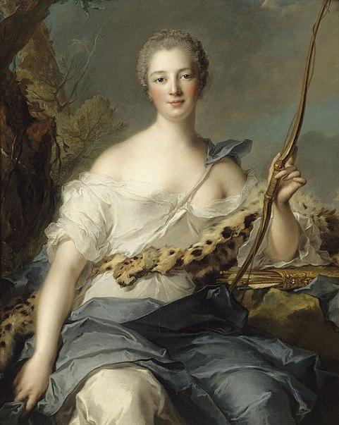 Jean-Marc Nattier, Madame de Pompadour en Diane (1746)