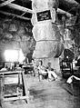 Jebel Moya site, Major Uribe in House of Boulders Wellcome L0021183.jpg