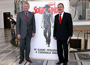 Jeff Immelt - Immelt (left) in the Polish Senate in 2009