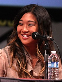 Jenna Ushkowitz - the beautiful, cute,  actress  with South-Korean roots in 2017