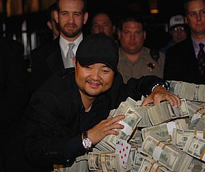 2007 World Series of Poker results - Jerry Yang after winning the 2007 World Series of Poker Main Event.