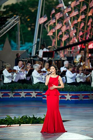 Jessica Sanchez - Sanchez performing during a Memorial Day concert in Washington, D.C.