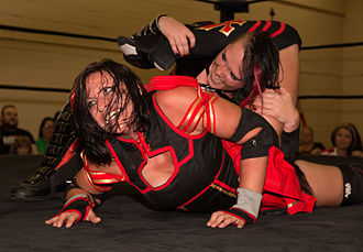 Jessicka Havok - Jessicka Havok with an Argentine leglock on Courtney Rush